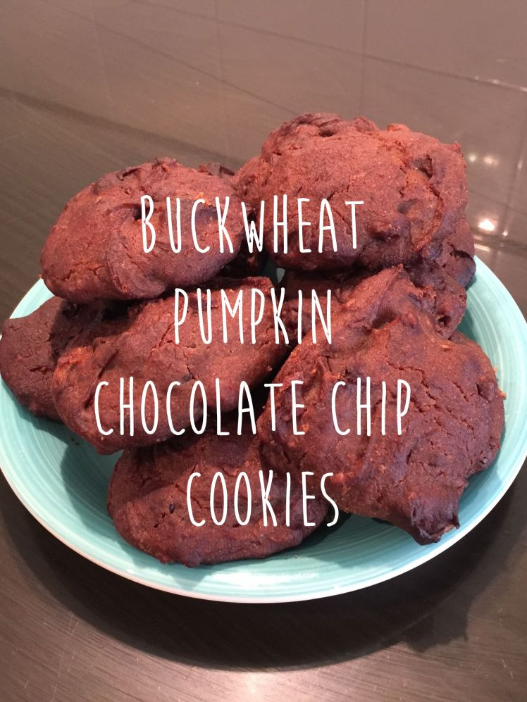 Buckwheat pumpkin chocolate chip cookies
